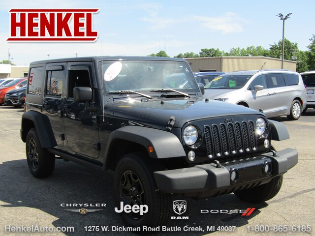 Pre-Owned 2016 Jeep Wrangler Unlimited Willys Wheeler 4X4
