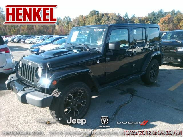 Pre Owned 2017 Jeep Wrangler Unlimited Sahara Smoky Mountain 4x4
