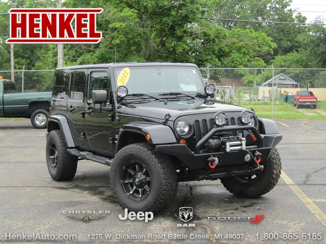 Pre-Owned 2012 Jeep Wrangler Unlimited Sahara 4X4