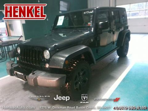 Pre-Owned 2017 Jeep Wrangler Unlimited Willys Wheeler 4X4