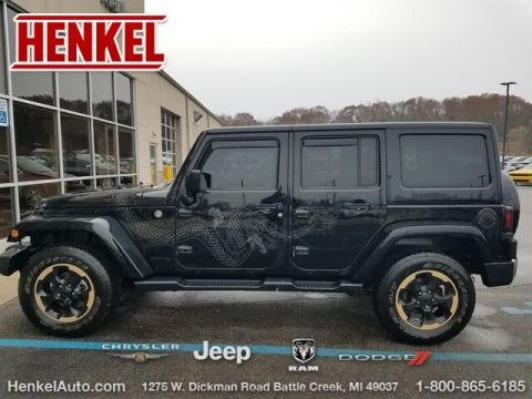 Pre-Owned 2014 Jeep Wrangler Unlimited Dragon Ed. 4X4